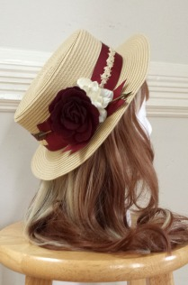 http://theblackribbon.storenvy.com/products/13123815-pierced-rose-boater